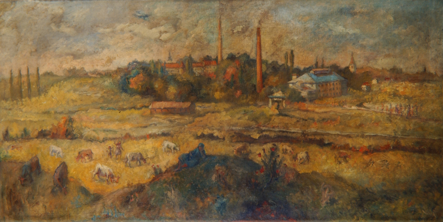 Slovenia, Artist: Rihard Jakopic, Title: The Textil Factory (1883)