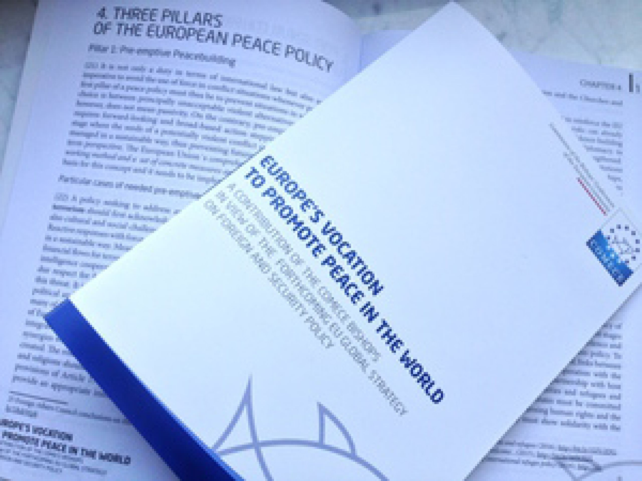 Europe's Vocation to Promote Peace in the World