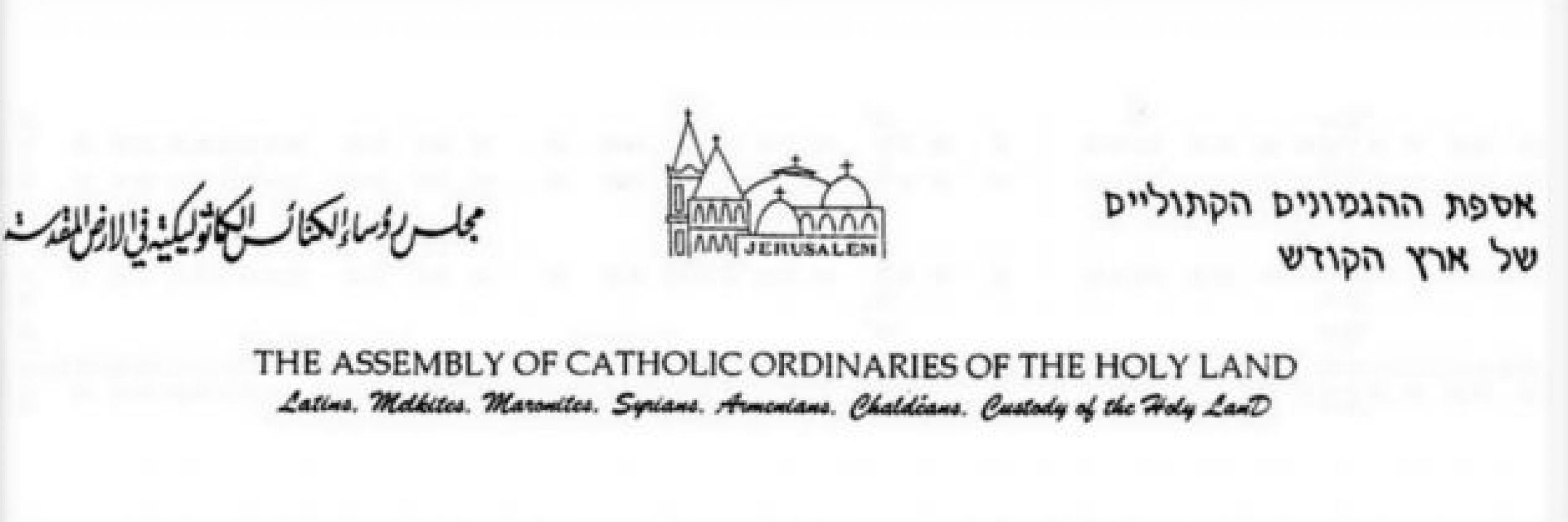 "Commission for Justice and Peace of the Assembly of Catholic Ordinaries of the Holy Land: The question of ""normalization"""
